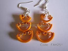 handmade paper earrings fah creations paper quilling earrings new designs