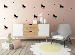 wall decals for nursery wall decals for kids wall stickers a pom black unicorn wall decals