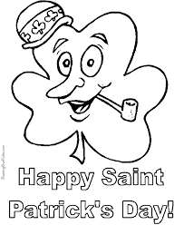 free printable shamrock to color 008
