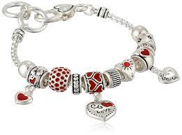 heart pendant bracelet images Silver tone heart charm bracelet 7 5 quot jewelry jpg