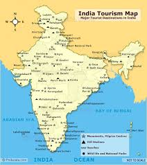 touristic map of india tourist map tourist places in india india tourist places map