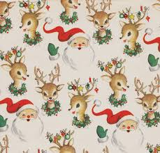 vintage wrapping paper vintage christmas wrap santa and reindeer david flickr