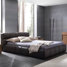 Leather Platform Bed Nuvola Leather Platform Bed