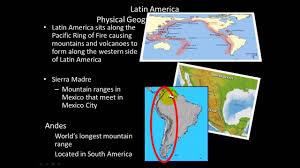 Latin America Physical Map Latin America Physical Geography Youtube
