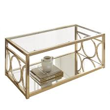 Z Gallerie Coffee Table by Amazon Com Steve Silver Olympia Glass Top Coffee Table In Gold