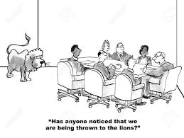cartoon of business leader saying he feels the team is being