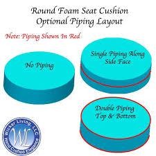 round wicker ottoman cushion solid foam