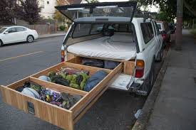 hunting truck ideas bedroom nice toyota tacoma owner turns his car into a handmade