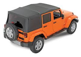 jeep wrangler 4 door maroon quadratop replacement soft top with tinted windows in black