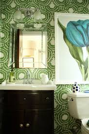 Tiny Powder Room Wallpapering A Powder Room Small On Space Big On Style