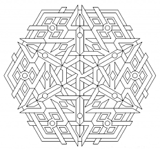 geometric design colouring pictures stained glass throughout free