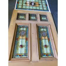 leaded glass door repair stained glass front entry door with side panels glass front