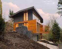 hillside cabin plans contemporary hillside house plans ideas the
