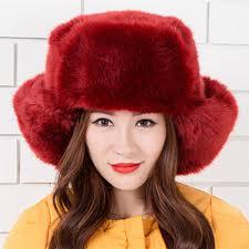 new ladies women russian cossack style faux fur winter warm