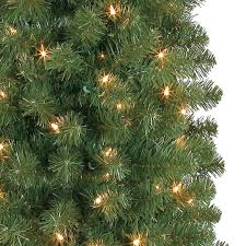 7 ft pre lit green pencil artificial christmas tree clear lights