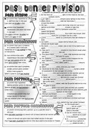 mixed past tenses revision worksheet free esl printable