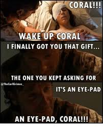 Eye Pad Meme - coral wake up coral i finally got you that gift the one you