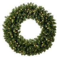 prelit artificial wreaths