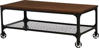 industrial patio furniture mercury row corvus rectangle industrial coffee table u0026 reviews