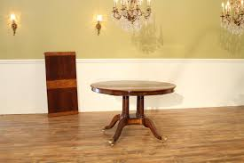 Yew Dining Table And Chairs 48 Inch To Oval Walnut And Yew Banded Dining Table Leaf