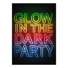 glow party glow party invitations announcements zazzle
