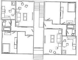 autocad house floor plan blocks modern hd