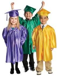 graduation gowns set of 5 children s nursery graduation gowns and hats 3 6 years kids