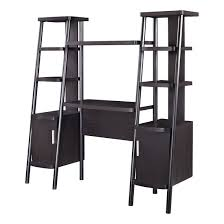 Bookcases With Ladder by Altra Espresso Ladder Bookcase Towers With Desk 9807096