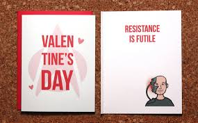 trek valentines day cards trek s day card picard borg trek and trek