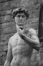 statue of david by michelangelo florence italy stock photo