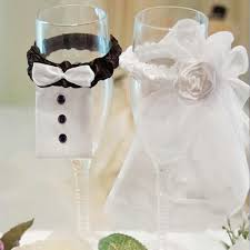 wholesale wedding dress mariage decorations bride groom wine glass