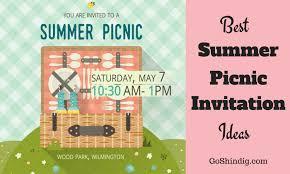 picnic invitation the best summer picnic invite ideas and templates