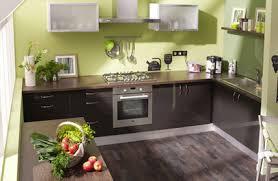cuisine verte et marron cuisine vert anis et marron