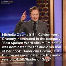 Obama Bill Clinton Meme - joke michelle obama bill clinton were grammy nominate conan