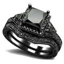black engagement ring set black gold engagement ring jewelry bijoux clocks