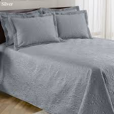 Grey Quilted Bedspread Lenore Solid Color Quilted Bedspread Bedding