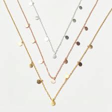 Disc Necklace Tiny Disc Necklace U2013 Gms Silver