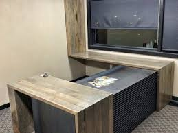 Reclaimed Wood Executive Desk Business Grain Designs