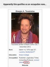 Giorgio Tsoukalos Meme - giorgio is a really weird person the meta picture