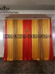 wedding backdrop gold online shop and gold 3m 3m silk wedding backdrop curtain