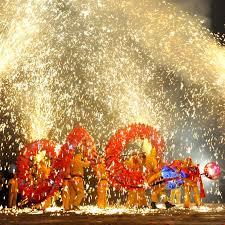 fireworks lantern lantern festival fireworks the end of the lunar new