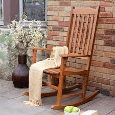 Patio Rocking Chairs Wood Coral Coast Indoor Outdoor Mission Slat Rocking Chair