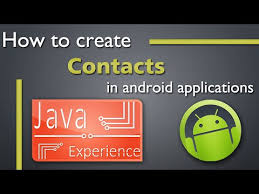 contacts app android how to create a contacts app in android