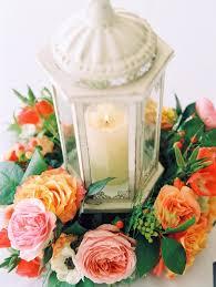 lantern centerpiece with flower wreath elizabeth anne designs