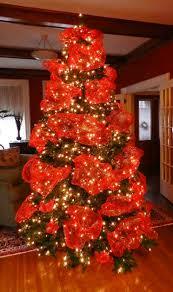 christmas tree ribbon decorating christmas lights decoration