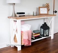 ana white console table rustic x console table do it yourself home projects from ana white