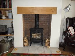 creating the illusion of a brick fireplace recess