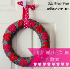 s day wreaths argyle s day yarn wreath our three peas