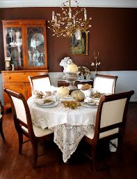 dining room beautiful thanksgiving table design with small round