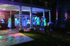 black light party ideas blacklight glow party floor made with neon duct